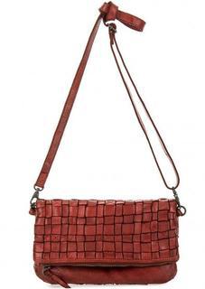Красная кожаная сумка Gianni Conti