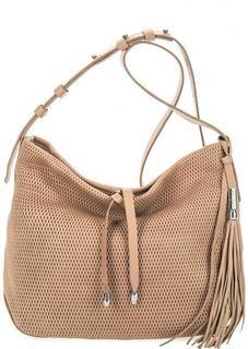 Бежевая сумка из фактурной кожи Gianni Conti