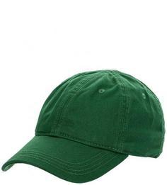 Зеленая бейсболка из хлопка Lacoste