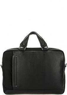 Вместительная черная сумка с двумя отделами Gianni Conti