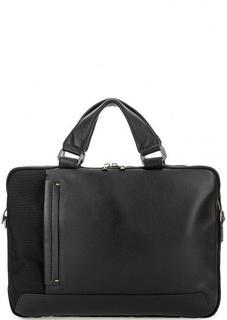 Текстильная сумка с кожаной вставкой Gianni Conti