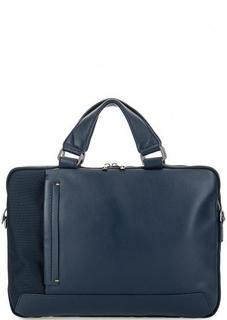 Синяя текстильная сумка через плечо Gianni Conti