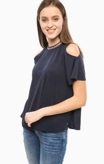 Трикотажная футболка с вышивкой Tom Tailor Denim