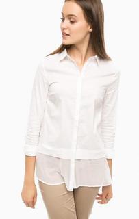 Удлиненная рубашка с полупрозрачной вставкой More & More