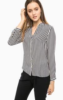 Шелковая блуза в полоску свободного кроя More & More