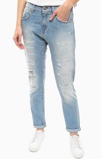 Рваные джинсы с потертостями Pinko