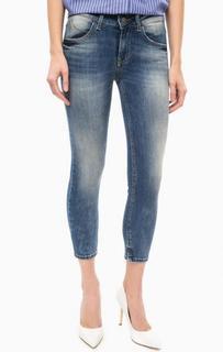 Укороченные джинсы с заломами Fornarina