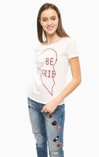 Хлопковая футболка с круглым вырезом Only