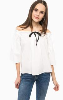 Блуза свободного кроя с перфорацией Fornarina