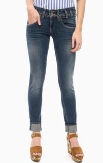 Зауженные джинсы с заломами и потертостями Fornarina