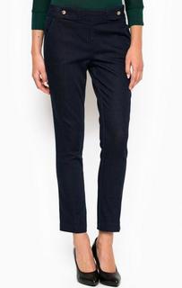 Синие зауженные брюки из хлопка Liu Jo