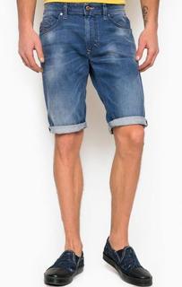 Синие джинсовые шорты с пятью карманами Diesel