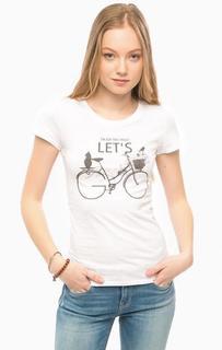 Белая футболка из хлопка Mavi