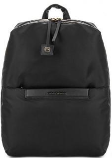 Текстильный рюкзак черного цвета Piquadro