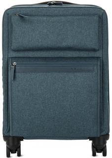 Текстильный чемодан на колесах синего цвета Piquadro