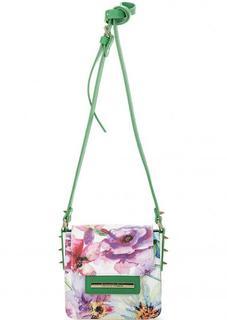 Маленькая разноцветная сумка с цветочным принтом Braccialini
