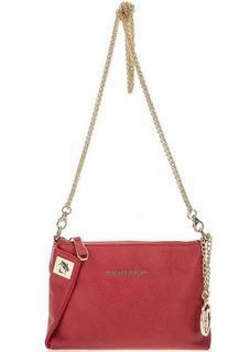 Маленькая сумка красного цвета на молнии Trussardi Jeans