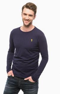 Хлопковая футболка с длинными рукавами Trussardi Jeans