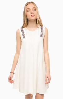 Льняное платье молочного цвета без рукавов Hilfiger Denim
