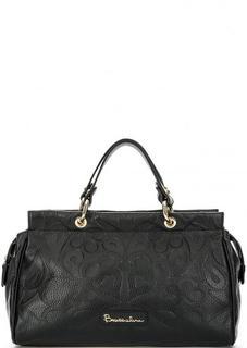 Кожаная сумка с короткими ручками и плечевым ремнем Braccialini