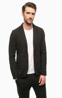 Серый пиджак на пуговицах Lagerfeld