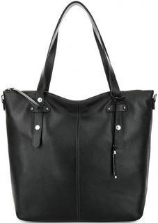 Черная кожаная сумка с двумя ручками Picard