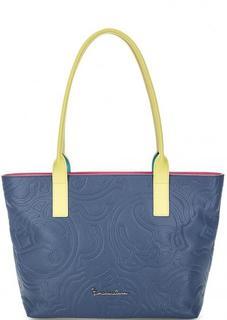 Синяя сумка с двумя ручками на молнии Braccialini