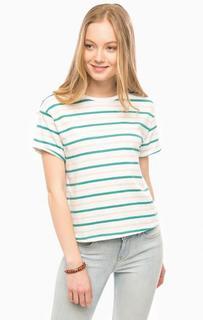 Белая футболка в полоску Lee