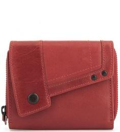 Красный кожаный кошелек Aunts & Uncles