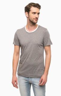 Хлопковая футболка с круглым вырезом Cinque