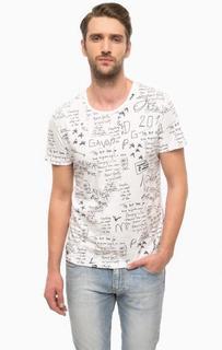 Белая футболка с принтом Gaudi