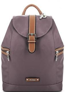 Сиреневый текстильный рюкзак с карманами по бокам Picard