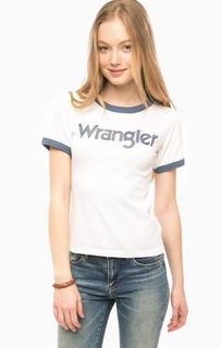 Белая футболка с принтом Wrangler