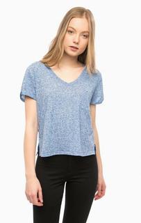 Синяя футболка с короткими рукавами и карманом Hilfiger Denim