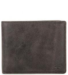 Кожаное портмоне серого цвета Picard