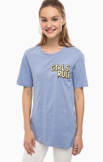 Хлопковая футболка с принтом Silvian Heach