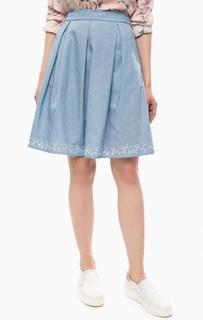 Расклешенная юбка с вышивкой по подолу Sugarhill Boutique