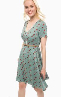 Приталенное платье из вискозы с ремнем Sugarhill Boutique