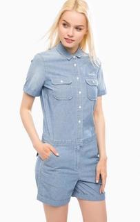 Синий джинсовый комбинезон Tommy Hilfiger