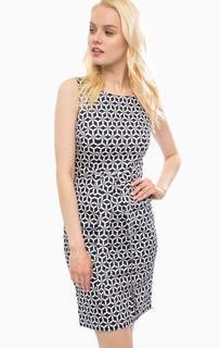 Приталенное синее платье с разрезом сзади Sugarhill Boutique
