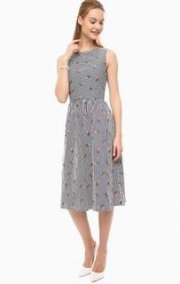 Платье в полоску с расклешенной юбкой Sugarhill Boutique