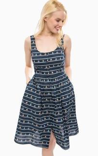 Хлопковое платье в полоску на пуговицах Sugarhill Boutique