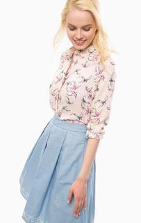 Приталенная розовая рубашка из вискозы Sugarhill Boutique