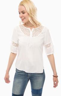 Белая блуза с кружевными вставками Sugarhill Boutique