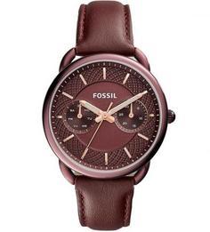 Часы с кожаным ремешком Fossil
