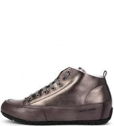Кожаные зимние кеды на шнуровке Candice Cooper