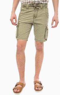 Шорты из хлопка цвета хаки с карманами Tom Tailor Denim