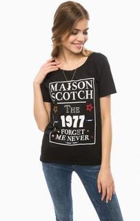 Черная футболка из хлопка с кулоном Scotch&Soda