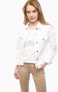 Белая джинсовая куртка Liu Jo