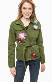 Легкая куртка с нашивками и отделкой бисером Liu Jo